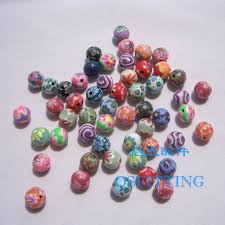 <b>50pcs</b>/lot <b>DIY accessories</b>,8mm polymer clay beads,round beads ...