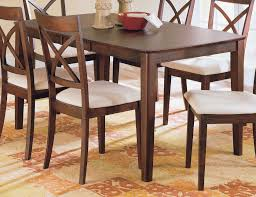Solid Wood Dining Room Tables And Chairs Rustic Chunky Pine Dining Table Two Tweed Chairs Benchlog Style