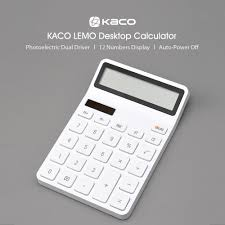 Xiaomi Youpin KACO LEMO Desktop <b>Calculator Photoelectric</b> Dual ...