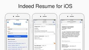 indeed resume for ios resume indeed
