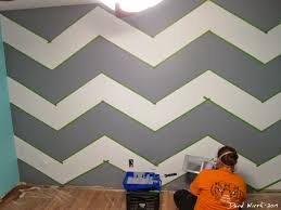 Paint Design Ideas Geometric Triangle Wall Paint Design Idea With Tape Diy For Life Wall Paint Design