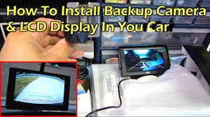 How To Install Rear View Reverse Backup Camera on <b>Car</b> - YouTube