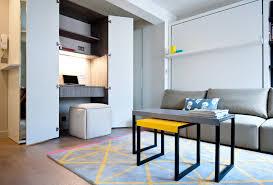 city studio apartment small contemporary study room idea in london with gray walls medium tone hardwood atlanta closet home office