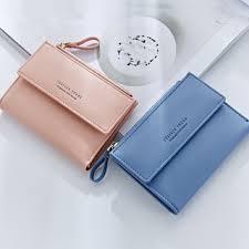 <b>Korean</b> Version Solid Color Square Mini <b>Wallet</b> Zipper Fold <b>Purses</b> ...