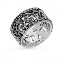 Серебряные <b>кольца</b> с марказитами в Ижевске 🥇
