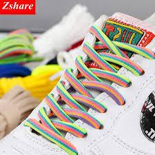 <b>1 Pairs Rainbow</b> Shoelaces <b>Round</b> Sneaker Shoe laces Fashion ...