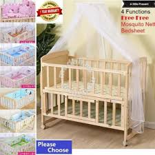 Full Set <b>Multifunctional Baby</b> Cot Double Layer - Moms & Kids for ...