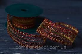 <b>Лента декоративная сетка красная</b>, цена 11,20 грн./ед., купить ...