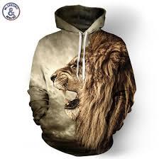 Autumn Winter <b>Fashion</b> Lion Ancient Digital Printing <b>Men</b>/<b>Women</b> ...