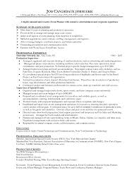 event planner resume template template event coordinator resume sample