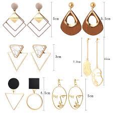 BICUX <b>New Fashion Round Dangle</b> Drop Korean Earrings For ...
