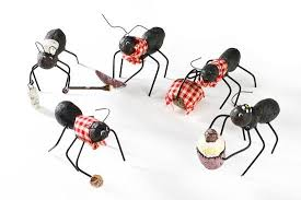 ant decorations for picnic theme | Black Dressed Picnic Ant Table ...