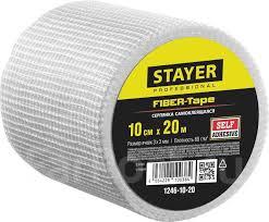 <b>Серпянка самоклеящаяся Fiber</b>-<b>Tape</b>, 10 см х 20м, <b>Stayer</b> ...