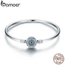 BAMOER <b>High Quality Authentic 925</b> Sterling Silver Blue Eyes Clear ...