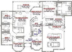 images about house plans on Pinterest   Square Feet  Country    Traditional Style House Plan   Beds Baths Sq Ft Plan Floor Plan   Main Floor Plan