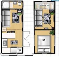 Tiny cottages  Cottage floor plans and Cottages on PinterestTiny house on wheels floor plan   single loft