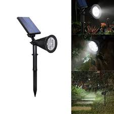 4w solar 6 <b>led pir motion sensor</b> flood light outdoor landscape lamp ...