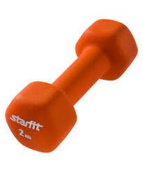 <b>Гантель неопреновая DB-201 2</b> кг, оранжевая STARFIT - Спорт96 ...