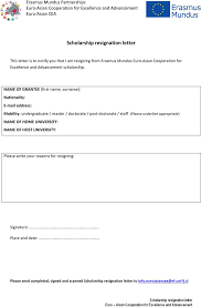 resignation letter word template premium scholarship resignation letter