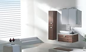 modern bathroom ideas of photos showing off wall mount oridinal brown walnut vertical cabinet with square bathroom stylish bathroom furniture sets