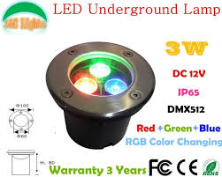 3W <b>LED Underground Lamp</b>,<b>DC</b> 12V DMX512 Landscape Lighting ...