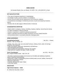 cover letter housekeeper resume sample key qualifications housekeeping housekeeper expertisesample of qualifications in resume housekeeper resumes