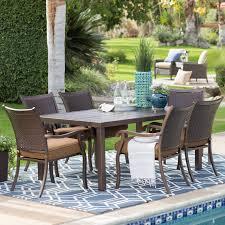 patio dining: coral coast bellagio cushioned aluminum patio dining set seats  patio dining sets at hayneedle
