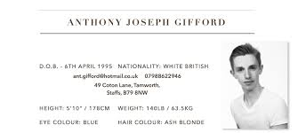 anthony gifford the dancers cv do they even it the dancers cv do they even it