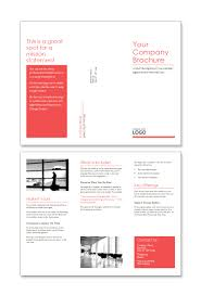 trifold word brochure template red design set templatix com