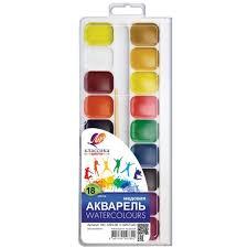 <b>Краски акварельные Луч Классика</b> 18 цв., с кистью, 19С 1293-08