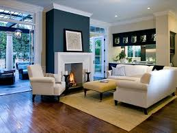 neutral living room diy fireplace