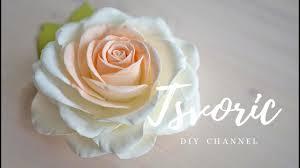 Реалистичная роза из фоамирана , цветы из фома Tsvoric ...