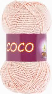 <b>Пряжа Vita Coco</b> №4317 Розовая пудра - Vita-Cotton