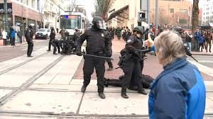 Police arrest 14 people during protest throughout Portland - KPTV ...