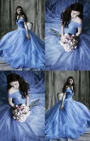 Blue Tull <b>Ball Gown</b>,Off the Shoulder Prom Dress,<b>Custom Made</b> ...
