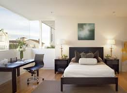 neat home office in guest bedroom design with open view through large window amazing home office guest
