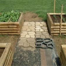 <b>DIY Plastic Path</b> Maker Mold Manually Paving Cement Brick Stone ...
