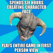 spends six hours creating Character face plays entire game in ... via Relatably.com