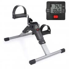 Mini <b>Pedal Exercisers</b> Bikes Foldable Fitness Armchair Cycle LCD ...