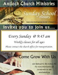 sunday school antioch church ministries ends 22 2019