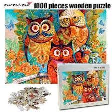 <b>MOMEMO</b> Owl Family <b>Puzzle</b> 1000 Pieces <b>Wooden</b> Adult <b>Jigsaw</b> ...