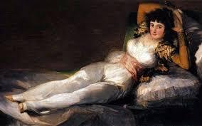 Описание <b>картины</b> Франциско де Гойя «<b>Одетая Маха</b>»