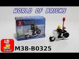 Обзор <b>конструктора Sluban Мотоцикл</b> Военной Полиции M38 ...