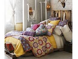 bedroom superb concept for mesmerizing bohemian style bedroom with colorful pillow case on single bed bohemian lighting