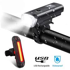 NEWBOLER <b>Smart Induction Bicycle Front</b> Light Set USB ...
