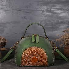 New Brand Women <b>Genuine Leather Handbags</b> Ladies <b>Retro</b> ...