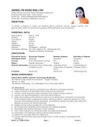 resume tefl template best ideas about teacher resume template resume tefl resume sample english teacher cv sample