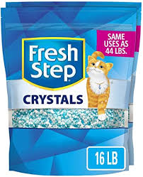 Fresh <b>Step Crystals</b>, Premium <b>Cat</b> Litter, Scented, 8 Pounds (Pack of 2)