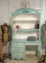 shabby chic desk vintage painted cottage shabby aqua chic desk with hutch chic office desk hutch