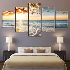 Wall Art Poster Modern Home Decor Living Room <b>5 Pieces Sunset</b> ...